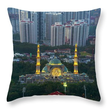 Federal Territory Mosque Throw Pillow by David Gn