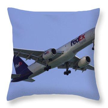 Fedex 757  Throw Pillow