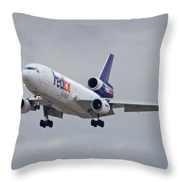 Fedex Express Mcdonnell Douglas Md-10-10f N359fe Phoenix Sky Harbor December 23 2015 Throw Pillow