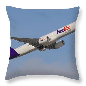 Fedex Jet Throw Pillow