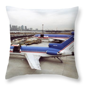 Fedex Ramp Boston 1985 Throw Pillow