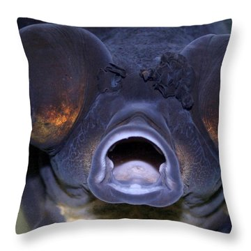 Feed Me Throw Pillow by Linda Sannuti