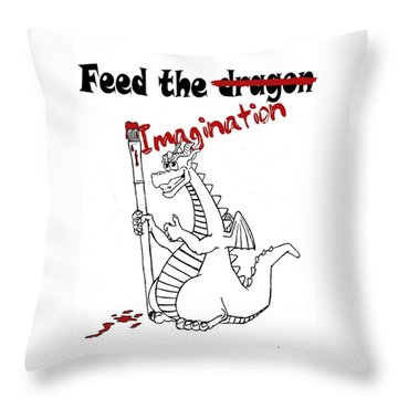 Feed The Imagination Throw Pillow