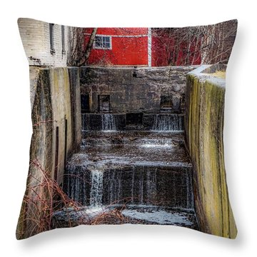Throw Pillow featuring the photograph Feeder Canal Lock 13 by Kendall McKernon
