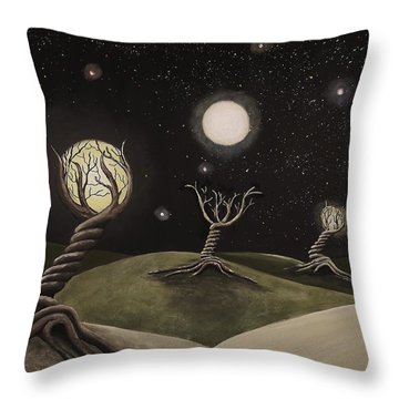 Throw Pillow featuring the painting Feeder by Edwin Alverio