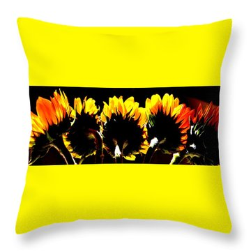 Soaking Up Sun Throw Pillow