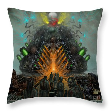 Feeding The Juggernaut Throw Pillow by Tony Koehl