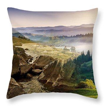 Feeding The Waterfall Montage Throw Pillow
