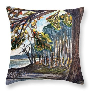 Feel The Breeze Throw Pillow
