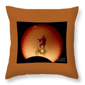 Feel The Burn, Elliptigo Eclipse Throw Pillow