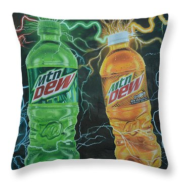Feel The Dew Throw Pillow