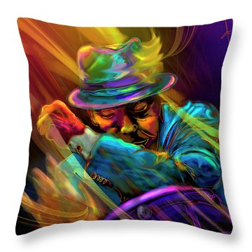 Feel The Fire Throw Pillow