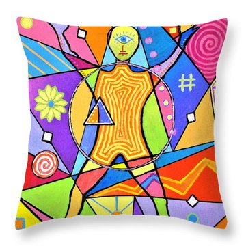 Feel The Vibes Throw Pillow