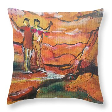 Feel The Warm Throw Pillow by Becky Chappell