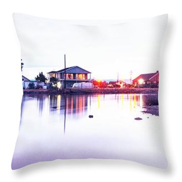 Feel The White Night Throw Pillow