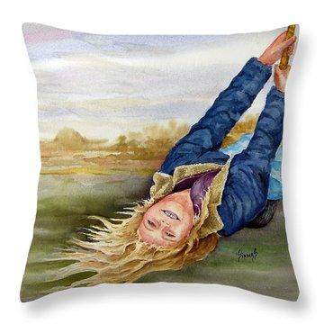 Feelin The Wind Throw Pillow
