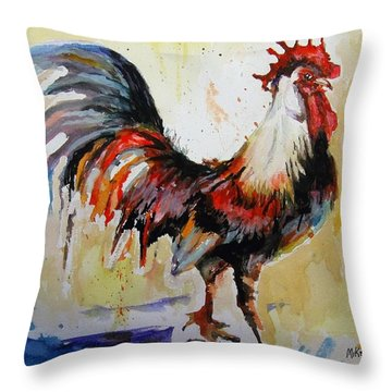Feeling Cocky Throw Pillow