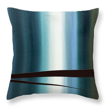 Throw Pillow featuring the painting Feeling Engaged by Carmen Guedez