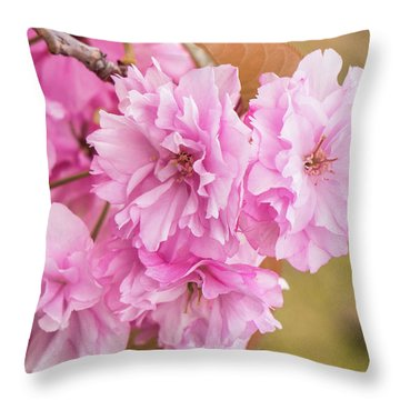Feeling Flowers Throw Pillow