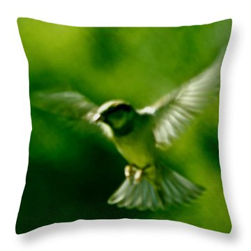 Feeling Free As A Bird Wall Art Print Throw Pillow by Carol F Austin