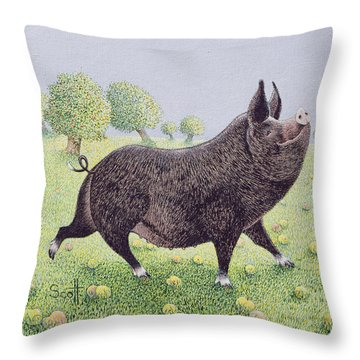Feeling Great  Throw Pillow by Pat Scott