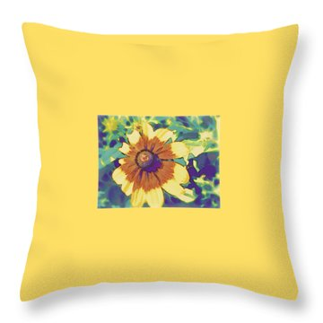 Throw Pillow featuring the photograph Feeling Groovy by Karen Shackles