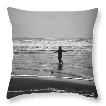 Feeling Her Joy Throw Pillow