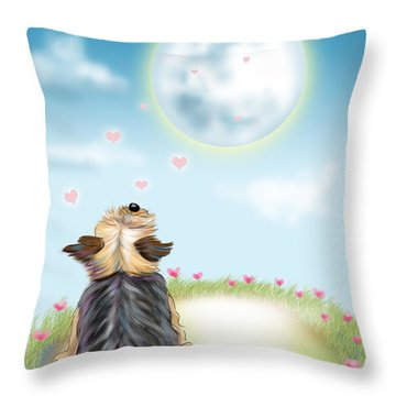 Feeling Love Throw Pillow by Catia Cho
