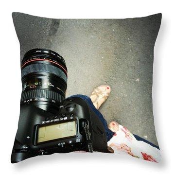 Feet Around The World #24 Throw Pillow