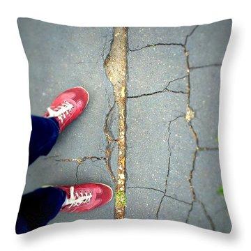 Feet Around The World #25 Throw Pillow