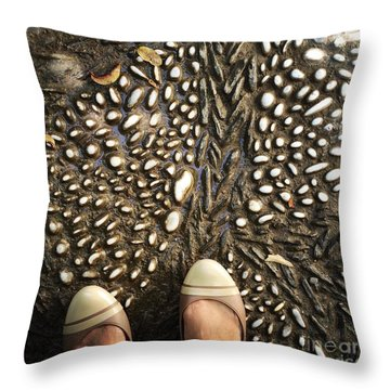 Feet Around The World #32 Throw Pillow