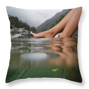 Feet On The Water Throw Pillow