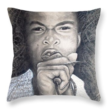 Fela  For Ever Lives Afrika Throw Pillow