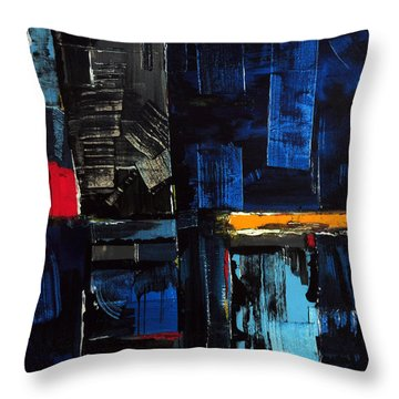 Throw Pillow featuring the painting Feldenkrais by Rick Baldwin