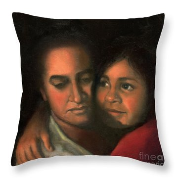 Felicia And Kira Throw Pillow