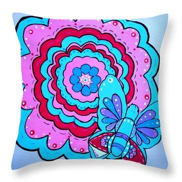 Felicity's Flower Throw Pillow