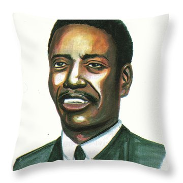 Felix Roland Moumie Throw Pillow by Emmanuel Baliyanga