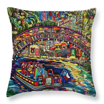 Feliz Navidad San Antonio Throw Pillow