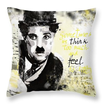 Feel More Throw Pillow by Sladjana Lazarevic