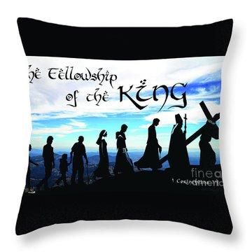 Fellowship Of The King Throw Pillow