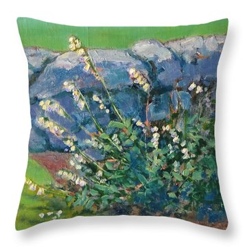 Fells Foxglove Throw Pillow
