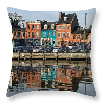 Fells Point 1 Throw Pillow