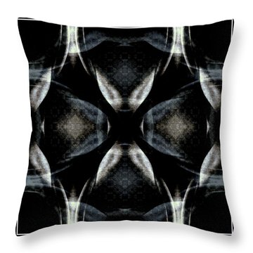 Female Abstraction Image Four Throw Pillow