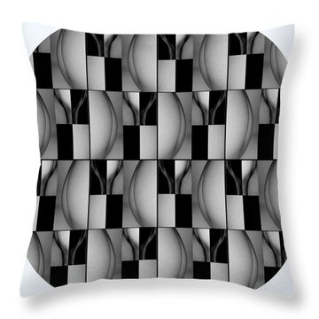 Female Abstraction Image Three Throw Pillow