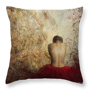 Female Back Throw Pillow