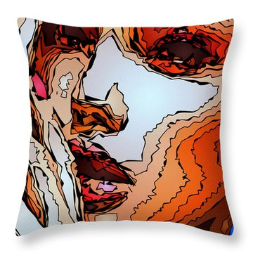 Female Expressions Viii Throw Pillow