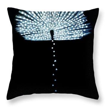 Female Feather Throw Pillow