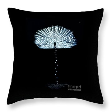 Female Feather Throw Pillow