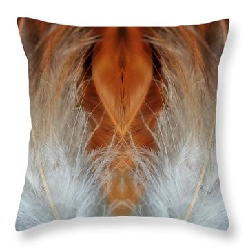 Female Feathers Throw Pillow