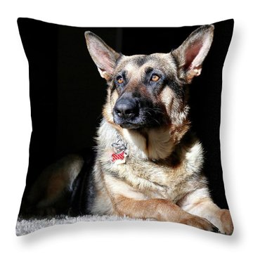Female German Shepherd Throw Pillow